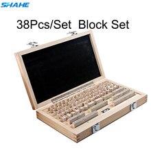 Shahe bloc de jauge de qualité 0 outils de mesure 38 pièces/ensemble