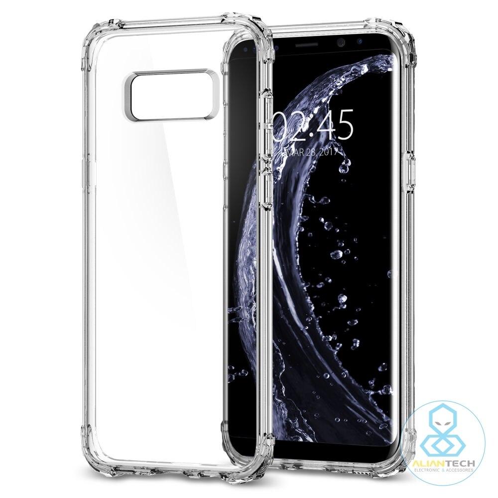 Цена за 100% Оригинал SPIGEN Galaxy S8 / S8+ Crystal Shell Case с снимите заднюю панель и Усиленных Углах Чехлы для Samsung Galaxy S8 / Galaxy S8 Plus