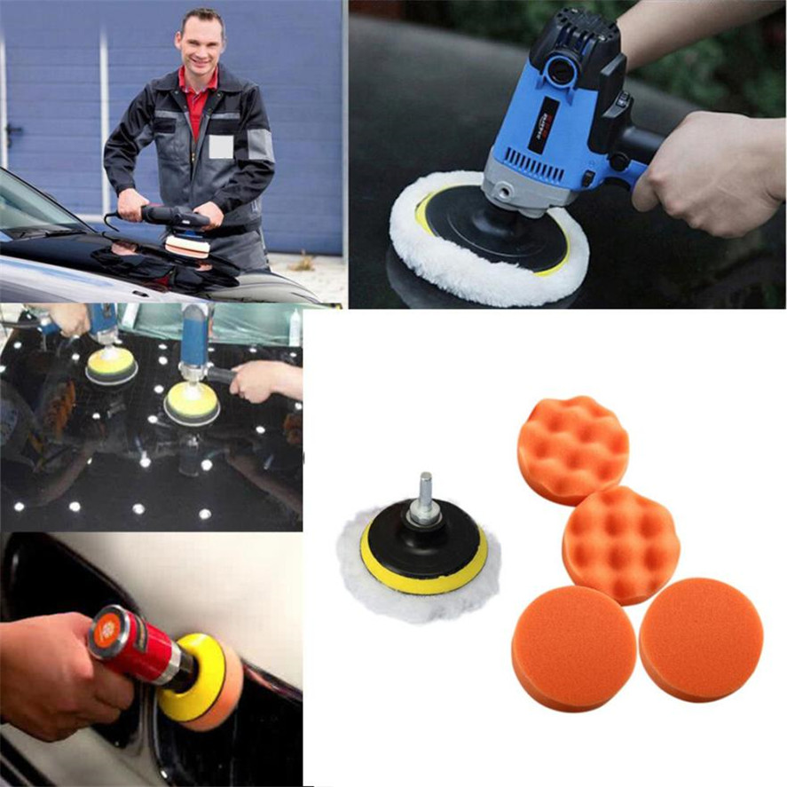New Brand 7pcs/Set Sponges Waves Plate Compound Car Polishing Tools Drill Adapter Car Wash & Maintenance Sponge