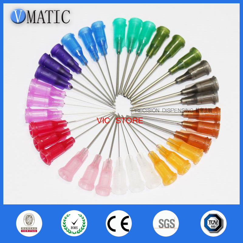 Free Shipping Wholesale 1000 Pcs 1 Inch Blunt S.S. Dispensing Needles Tips 14G/15G/16G/18G/20G/21G/22G/23G/25G/27G Needle