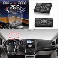 Para Chrysler, ciudad y país 2015 2016-la seguridad de la conducción del coche de la pantalla HUD Head Up Display proyector Refkecting parabrisas