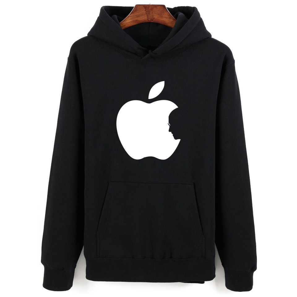 New Arrival Apple Print Winter Autumn Punk Hoodie Men In Steven Jobs Hoodies And Sweatshirts Oversized 4XL
