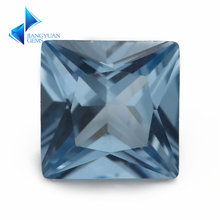 Размер 3x3 мм ~ 10x10 квадратная форма принцессы 106 # синий
