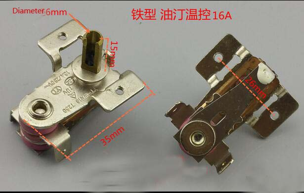 oil raditator heater parts thermostat 16A iron type oil heater