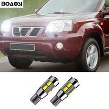 BOAOASI 2x T10 светодиодный W5W автомобильный парковочный светильник для Nissan Qashqai Juke Almera X-trail Tiida Note Primera Pathfinder Sentra