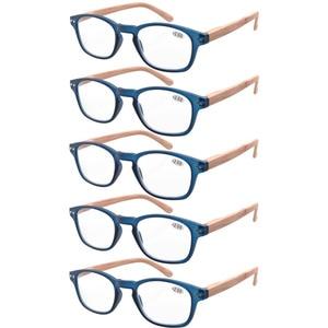 Image 5 - R034 Eyekepper 5 pack Spring Hinge Wood grain Printed Arms Reading Glasses Sun Readers +0.50   +4.00