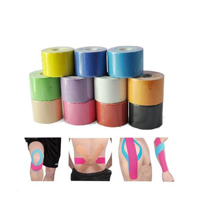 Top Quality 50mmx5m Kinesiology Kinesio Tapes Waterproof Pure cotton Ventilator Waterproof/Sports Safety Muscle Tapes LT028
