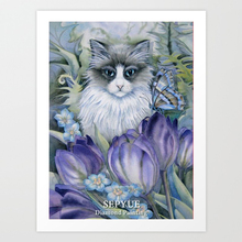 SepYue  5d Diy Diamond Painting Paint with Diamonds Embroidery Cross Stitch Rhinestone Full Drill Cat In Flower