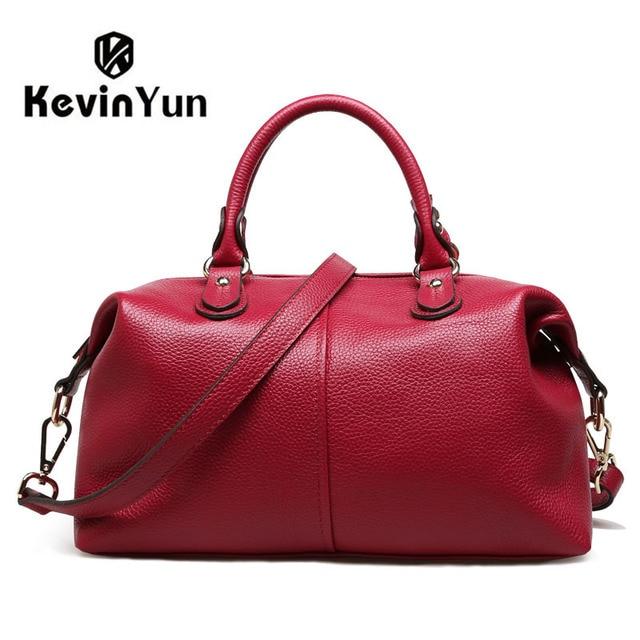 562ac1592716 KEVIN YUN fashion genuine leather bag women handbag shoulder bags ladies  bolsos casual one shoulder crossbody female bags