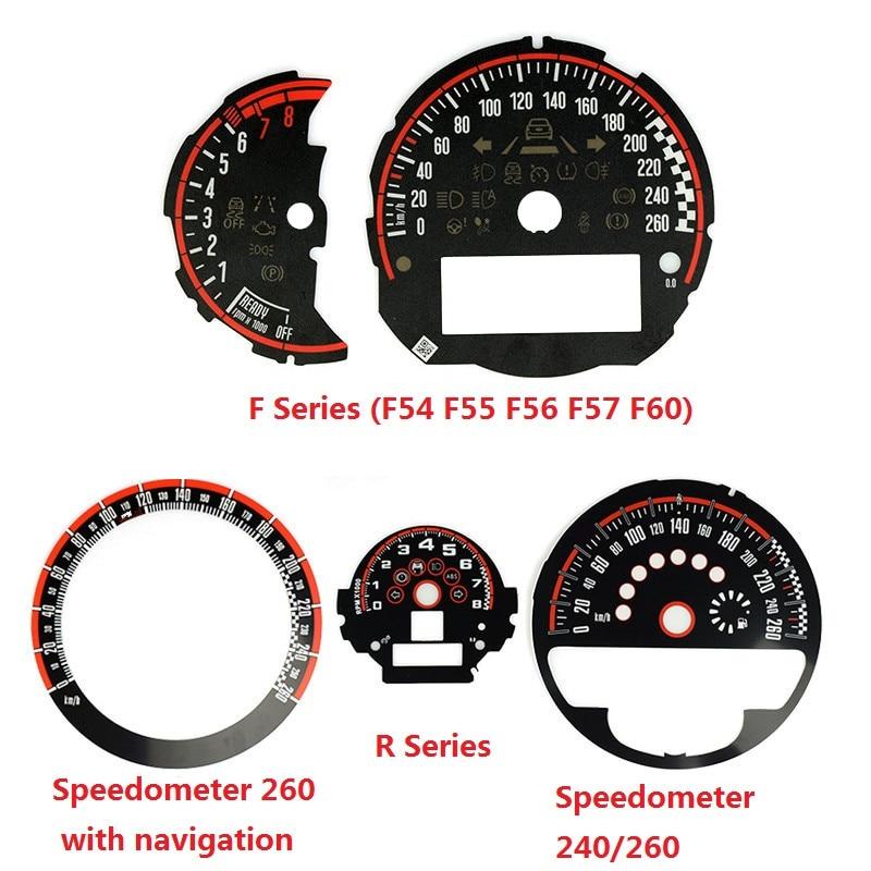 Autocollant de cadran de tachymètre de compteur de vitesse de style de voiture pour Mini Cooper JCW F54 F55 F56 F57 F60 R55 R56 R60 R61 accessoires de remplacement
