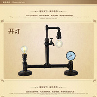 Free shipping the hotel bedroom lamp book desk lamp coffee hall bar lights do old vintage iron pipe lamp