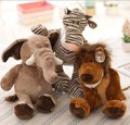 25cm Germany NICI jungle brotherseries tiger/lion/giraffe/elephant/monkey plush plush toy doll for birthday gift 3pcs/lot