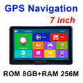 7 polegada tela Capacitiva de Navegação GPS Do Carro FM Construído em 8 GB/256 M WinCE 6.0 Mapa Caminhão veículo Navegador gps
