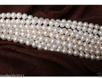 1 Strands 9 10 MM Real Natural White Akoya Cultured Pearl Loose Beads 15 AA
