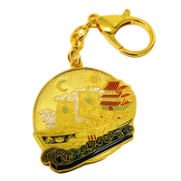 Feng Shui Wealth Ship Amulet Keychain W3703