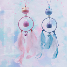 New Wind Chimes Handmade Indian Dream Catcher Net With Feathers 55 cm Wall Hanging Dreamcatcher Craft Gift Home Decoration цена 2017