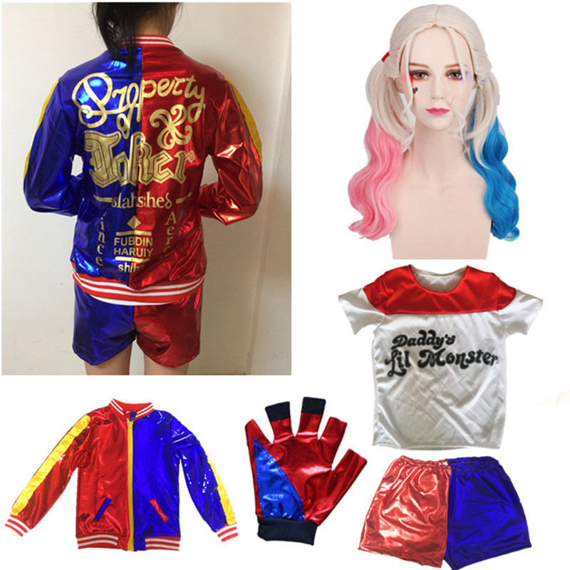 Harley Quinn Girls Cosplay Halloween Costumes for Kids Suicide Squad Movies Costume Crazy loli Voodoo Cost  Anime Cosplay Party