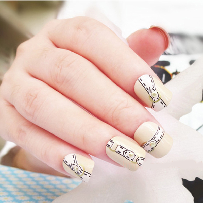 2017 Newest Nails Fashion Beautful Belt Fake Nail Art Tips Shining ...