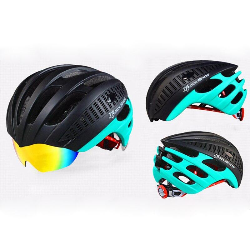 Helmem Radhelm Fahrrad magnetische Schutzbrille Mountain Road Bike Sonnenbrillen Gläser Grün 3 Linse 3 Linse jCdIRwLrg7