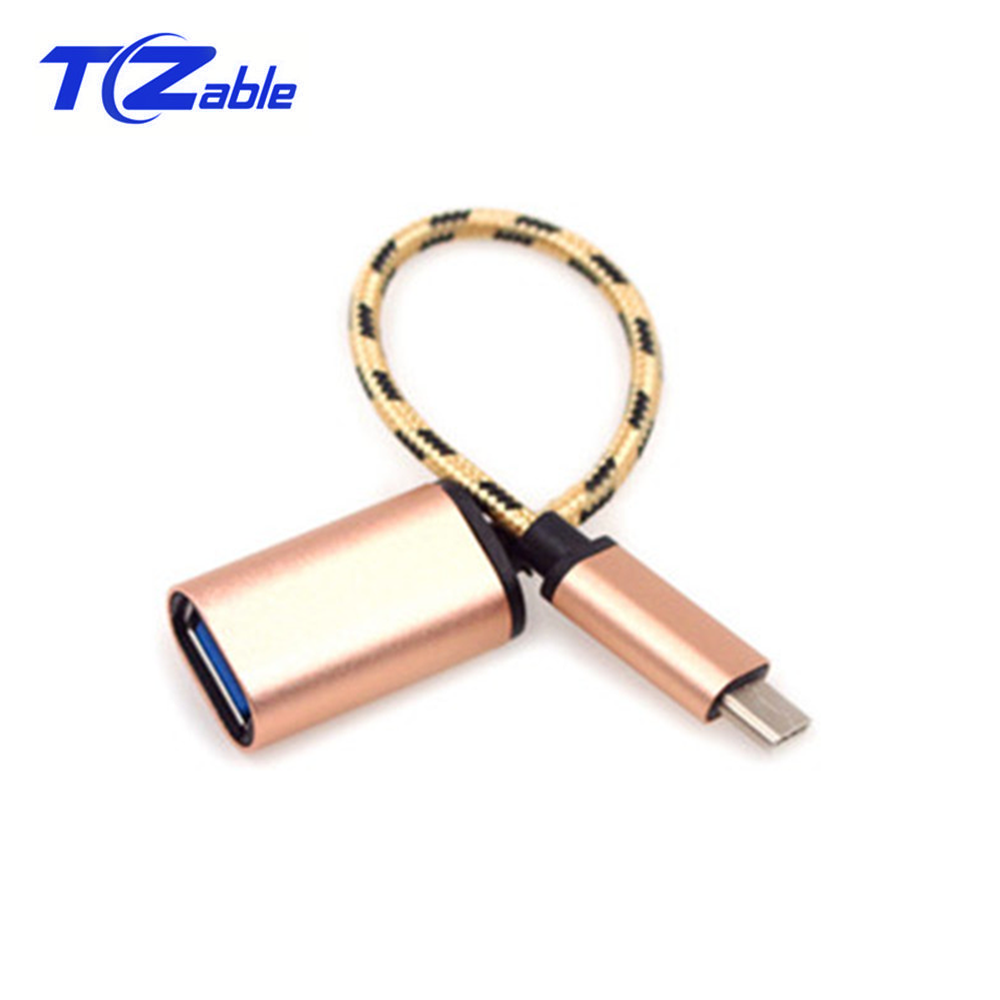 Metal USB Extension Cable Type C Male To USB Female OTG Data Sync Converter Adapter For Computer Mobile Phone Type C Cable
