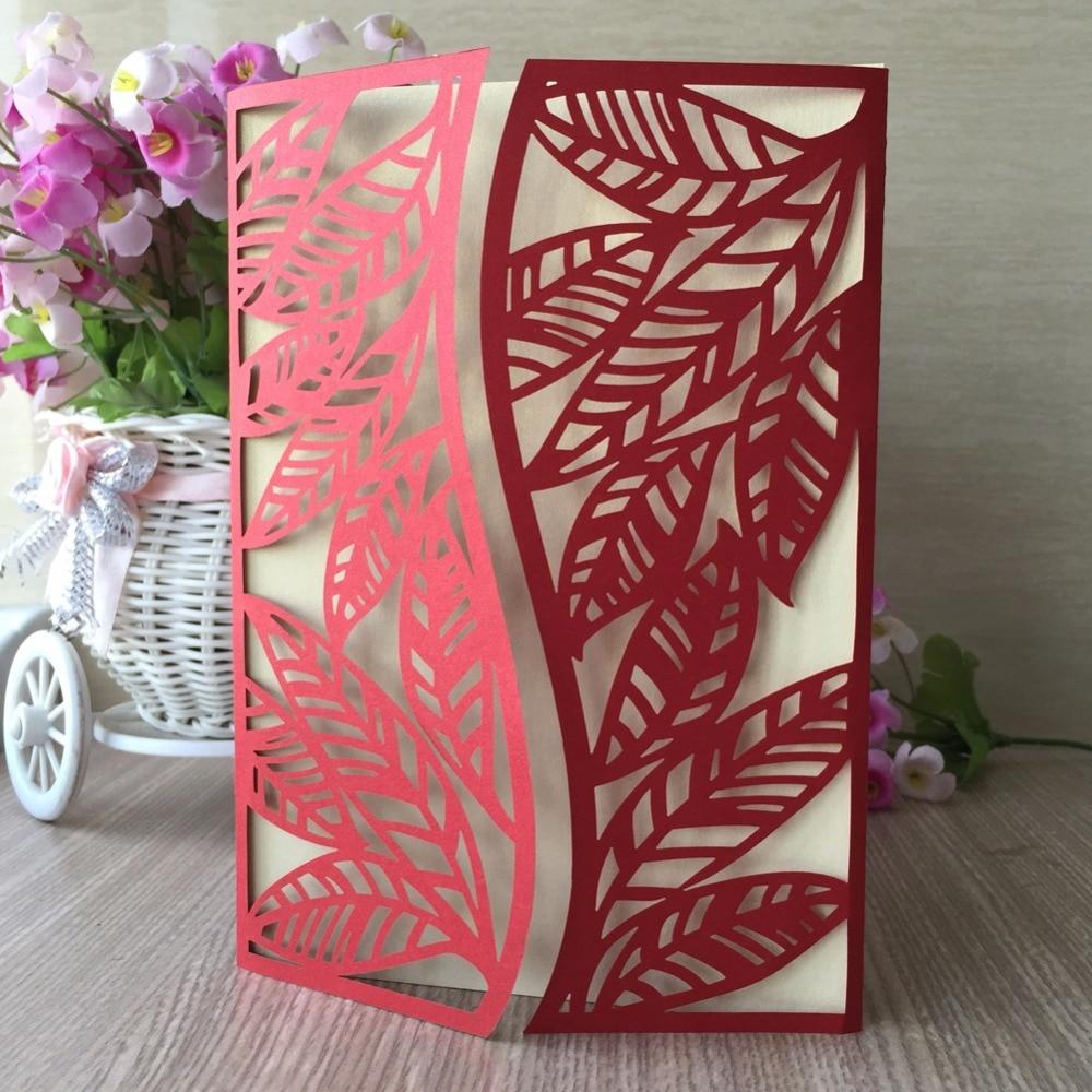 30pcs Autumn leaves Wedding Invitations Cover Card Decoration Best ...