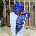 2 Colores 53*53 CM Velas Impreso pequeña bufanda cuadrada de seda 2017 MÁS NUEVAS mujeres bufandas de Seda pequeña Plaza 100% bufanda de Seda