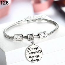 Family Mother Mom Son Daughter Grandmother Bangle Bracelet Charm Chic Jewelry