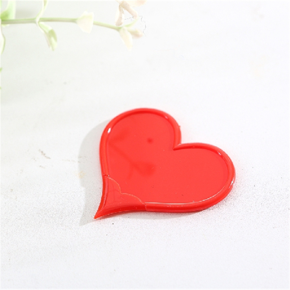 20pcs/lot  Plastic Box Package Letter Opener Office Equipment Safety  Heart Shape