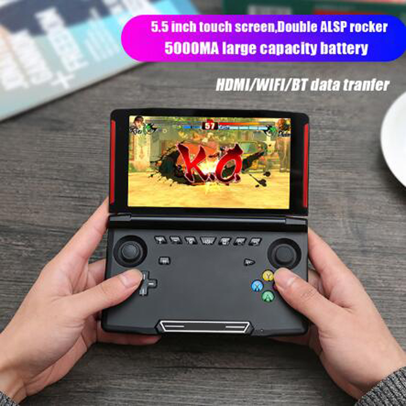 Console de jeu portable écran 5.5 pouces 1280*720 pour MTK8163 quad core 2G RAM 16G ROM lecteur de jeu vidéo portable pour android