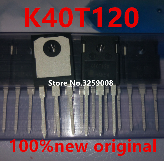 K40T120 IKW40T120 40A/1200V TO-247 100% new original 5PCS/10PCS ixgh48n60a3 to 247
