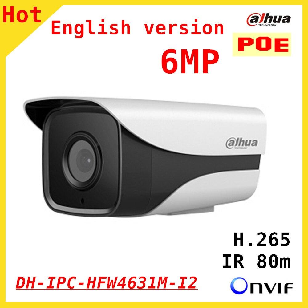 100% Original 6mp Dahua IP Camera English firmware IR 80M H.265 IPC-HFW4631M-I2 IR Cut HD1080P Support POE DH-IPC-HFW4631M-I2 ipc floor pca 6114p10 rev b1 100% test