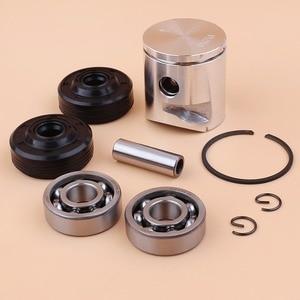 Image 4 - 39mm Piston Pin Ring Crank Bearing Oil Seal Kit Fit Husqvarna 235 236 236E 240 240E Chainsaw Engine Parts 545081894, 530056363