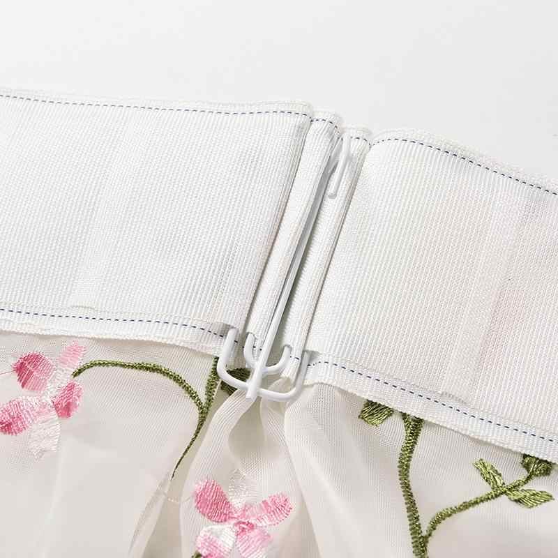 Trang chủ Hộ Gia Đình Sáng Vườn Hoa Thêu Sheer Tùy Chỉnh Rèm Cửa Vải Tuyn Sợi cho Tường Màn Hình Phòng Ngủ Rèm Phòng Khách