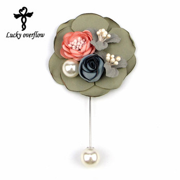 New Women Muslim Created Succulent Flower Design Brooch Lapel Scarf Pin Suit Stick Brooches Wedding Party Jewelry Accessories lo ultimo en reloj tourbillon