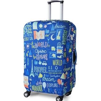 427f086b9 JULY'S canción maleta caso 18-32 pulgadas elástico equipaje fundas de protección  a prueba de polvo maleta protectora cubre accesorios de viaje