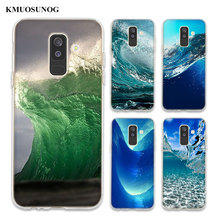 Transparent Soft Silicone Phone Case the waves ocean water For Samsung Galaxy A6 A6+ A9 A8 Star A8+ A7 A5 A3 Plus 2018 2016