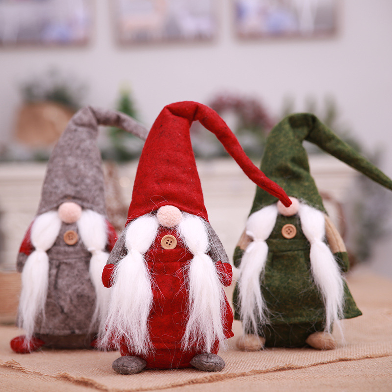 christmas funny scandinavian gnome plush tomte nisse santa claus figure toy doll for xmas new year ornaments holiday table decor