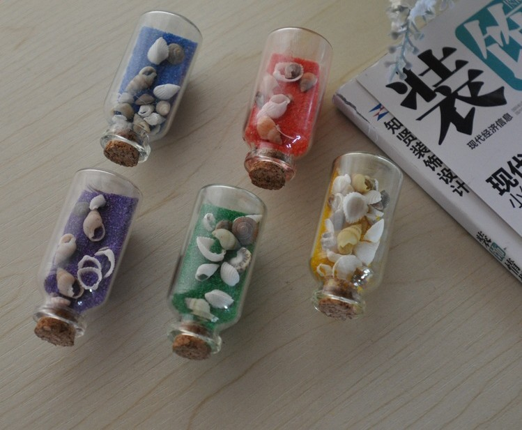 Mini glass bottles wholesale mini colored sand craft for Colored bottles for decorations