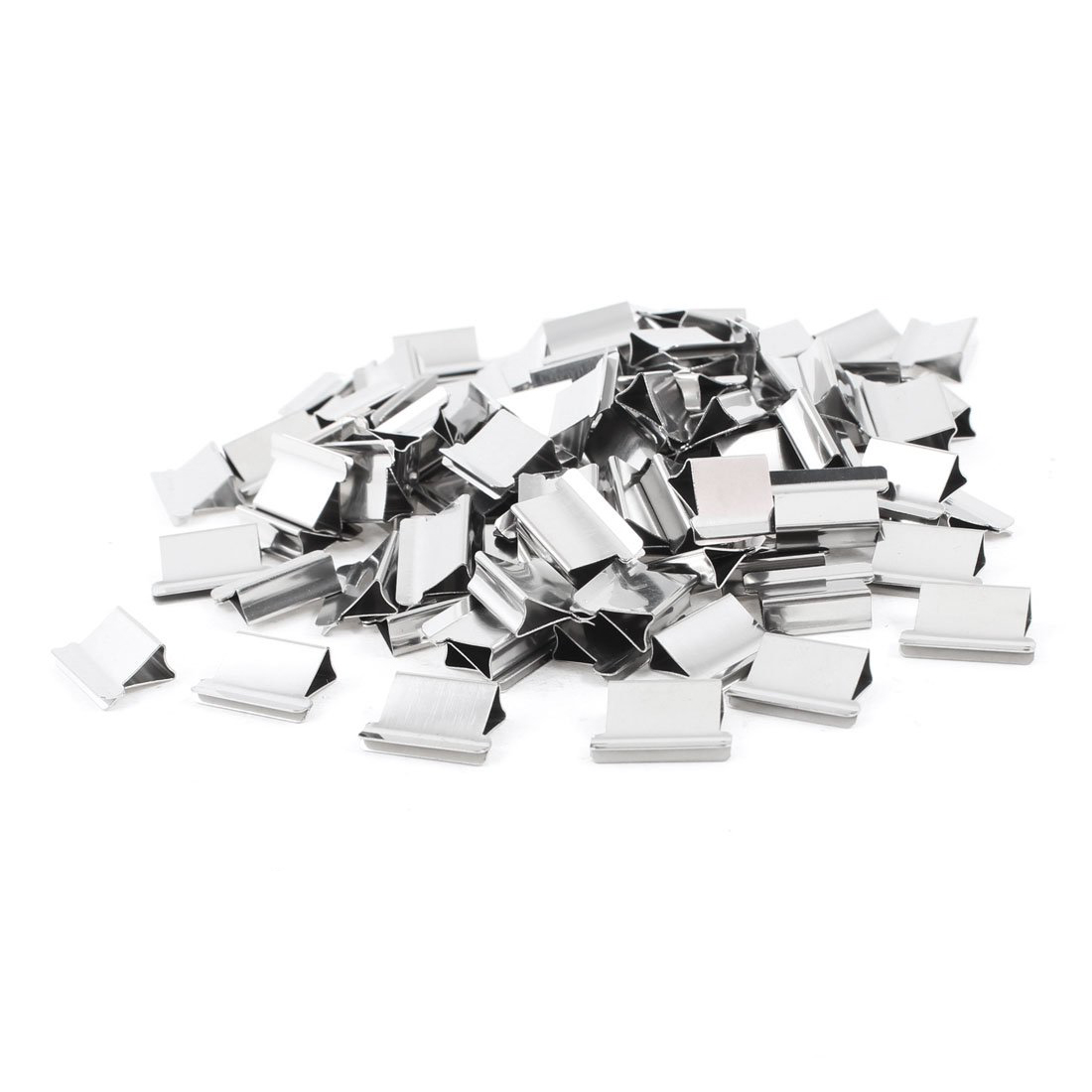 SOSW-100 Pcs 15mm X 10mm X 5mm Metal Reusable Refill For Clam Clips Dispenser