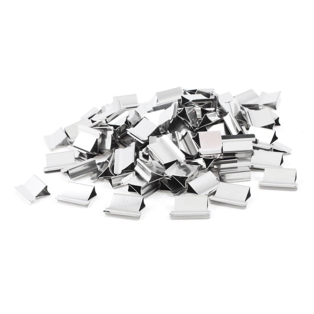 SOSW-100 pièces 15mm x 10mm x 5mm métal recharge réutilisable pour distributeur de pinces à palourdes