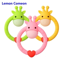 Lemon Comeon Baby Teether 5PCS/Lot Perle Silicone Teething Rings Toys Animal Deer Chew Toy Cute Bracelet Infant Nurse Gift