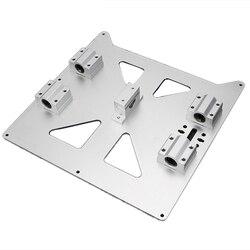Anodowanego aluminium Y przewóz płyta z Sc8Uu Pgrade Prusa I3 V2 gorącym łóżku płyta nośna dla Prusa I3 Reprap Diy 3D części drukarki w Części i akcesoria do drukarek 3D od Komputer i biuro na