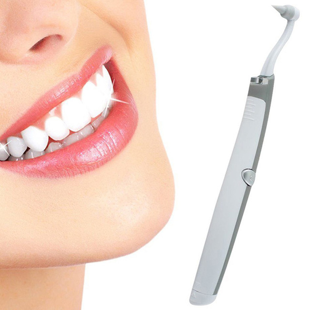 Gustala Multifunctional Sonic Vibration LED Dental Tools Tooth Stain Eraser Plaque Remover Teeth Whitening Tools