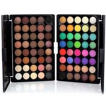 дешево!  40 цветов матовая косметическая пудра палитра теней для век роскошный набор для макияжа матовая косм