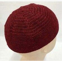 Newest Fashion Winter Men Muslim Prayer Cap Acrylic Muslim hats Islam Knitted Banddanas Hijabs Free Shipping