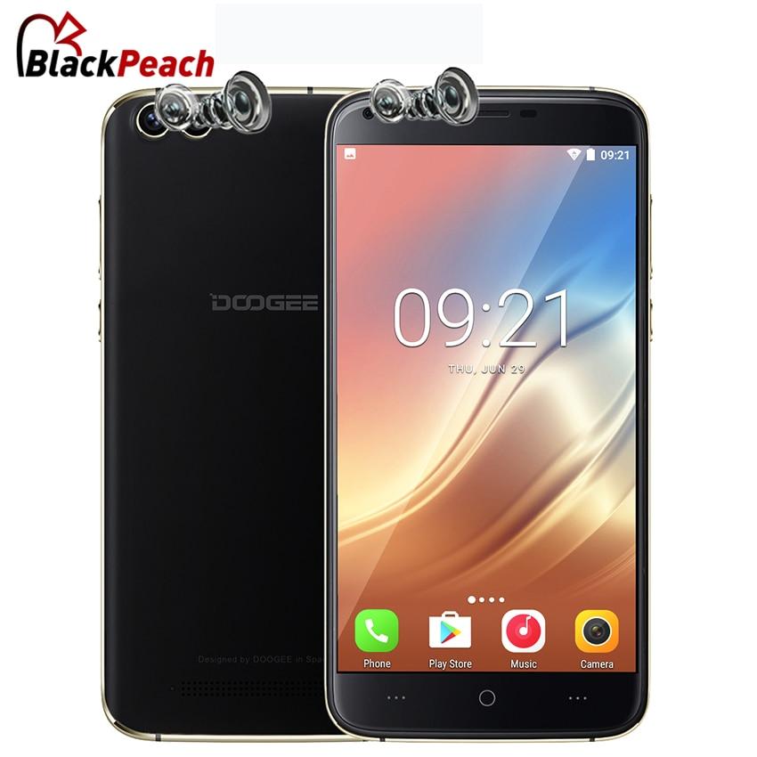 bilder für DOOGEE X30 Dual Rückfahrkamera Handy 5,5 Zoll HD MTK6580 Quad Core Android 7.0 2 GB RAM 16 GB ROM Dual-sim-karte 3G Handy