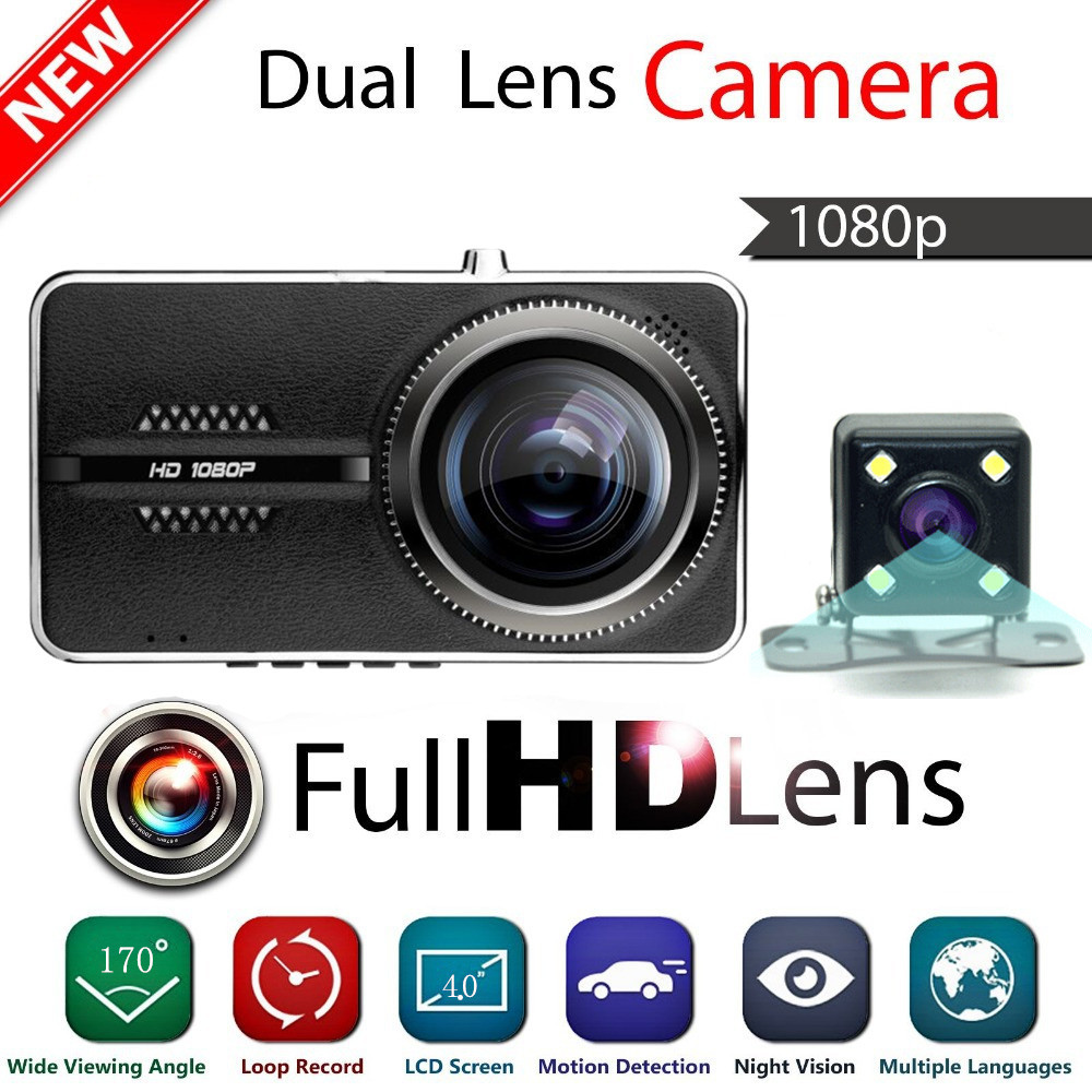 Dual Lens Original Novatek 96655 Car DVR Camera Full HD 1080P Night Vision Digital Video Recorder