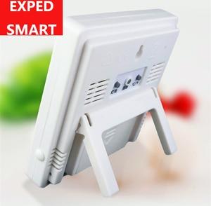 Image 4 - מקורה LCD דקות שעון טמפרטורת לחות מד מדחום הדיגיטלי LCD thermo מדדי לחות