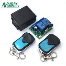 Interruptor de Control remoto inalámbrico Universal, 433Mhz, cc 12V 2CH, módulo receptor por relé y 2 piezas transmisor 433Mhz, controles remotos