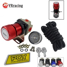 VR - PQY UNIVERSAL ADJUSTABLE MANUAL GAUGE TURBO BOOST CONTROLLER 1-150 PSI JDM BOOST CONTROLLER WITH PQY Sticker VR5811